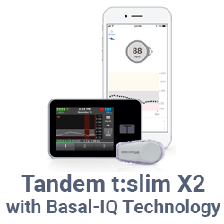 Tandem t:slim X2 with Basal-IQ Technology